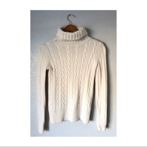 J Crew cable knit turtleneck sweater